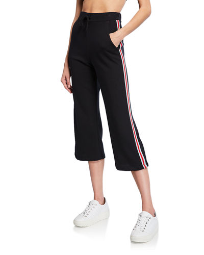 Imani Cropped Side-Trim Pants