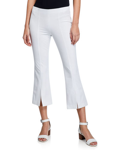 Cropped Slit-Cuff Pants