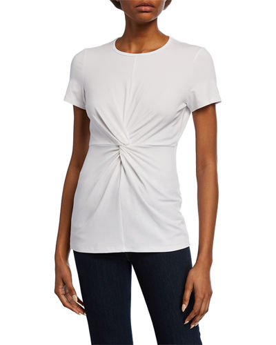 Short-Sleeve Knotted-Front Tee