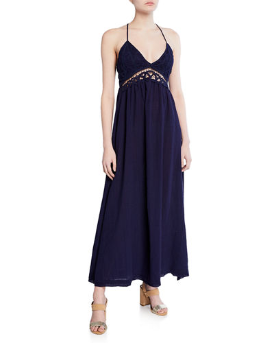 Cutout Lace Maxi Dress