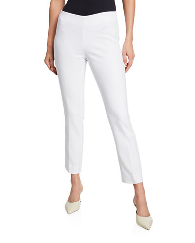 Lisa Mid-Rise Straight-Leg Cropped Pants