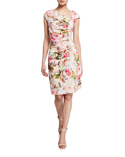 Brooke Shirred Bodice Sheath Dress