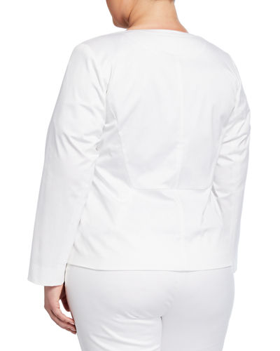 37e391cff48 Lafayette 148 New York Plus Size Janelle Cotton-Blend Jacket