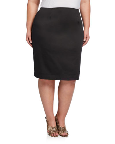 Plus Size Slim Skirt