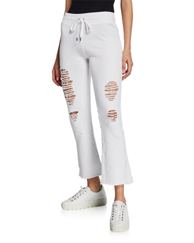 Distressed Flared Jogger Pants