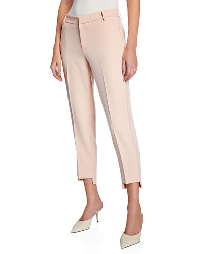 Step-Hem High-Rise Skinny Pants