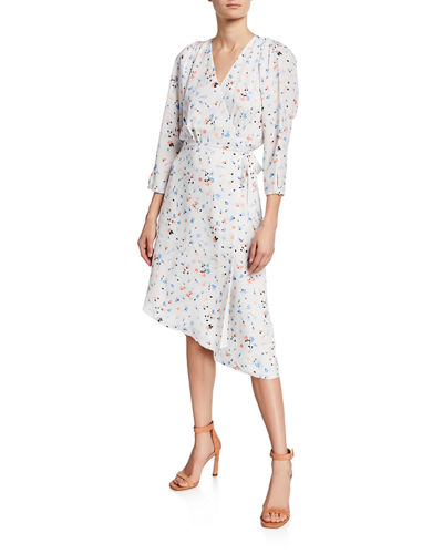 Acantha Floral-Print Long-Sleeve Wrap Dress