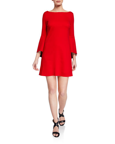 High Born Bell-Sleeve Mini Dress