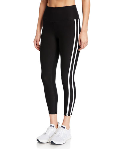 Tummy Control Sport Double Line Cropped Leggings
