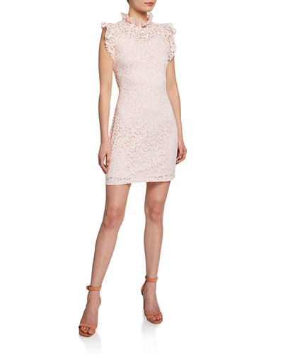 Lace Ruffle Sheath Dress