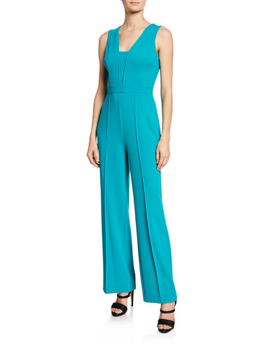 Sleeveless Wide-Leg Jumpsuit