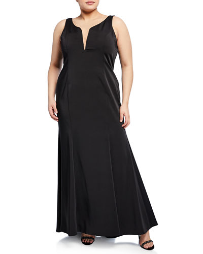 Plus Size High-Low Mermaid Gown