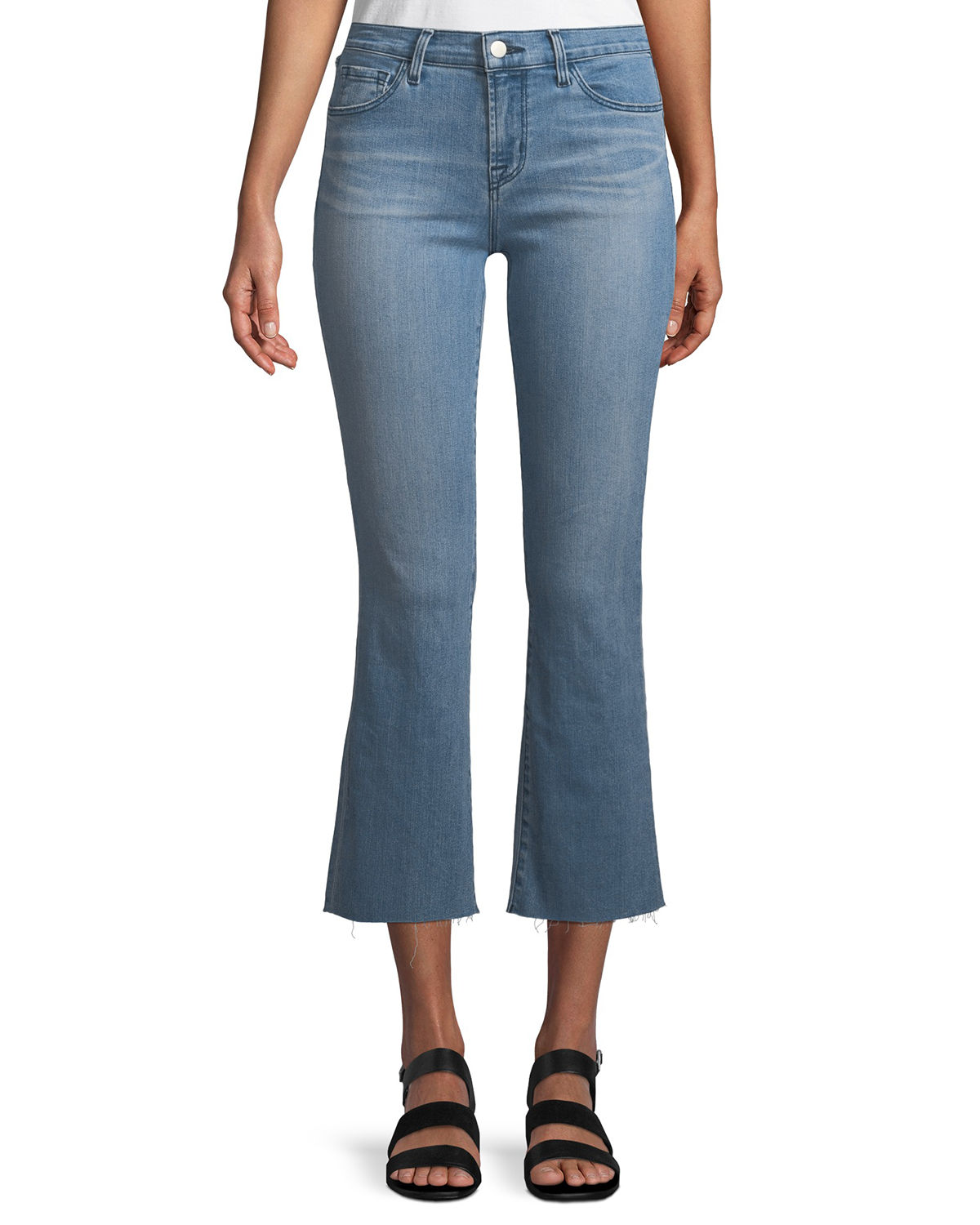 J Brand Jeans SELENA MID-RISE CROP BOOT JEANS