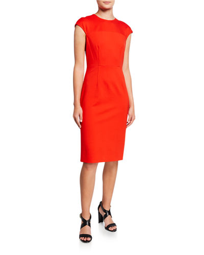 Hadlie Cap-Sleeve Sheath Dress
