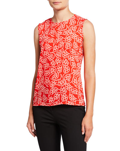Mary Floral Sleeveless Top