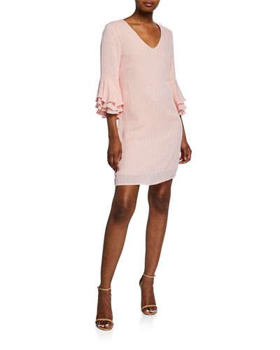 Nettie Bell-Sleeve Shift Dress