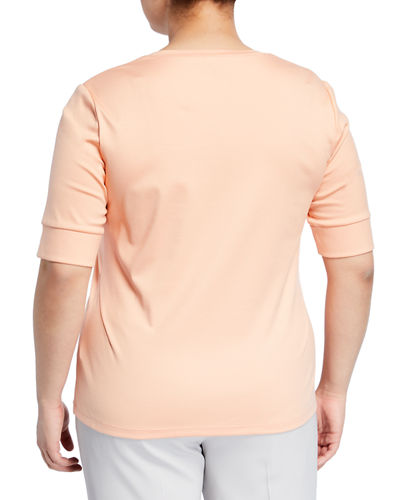 Casual T-Shirt w Square-Neck