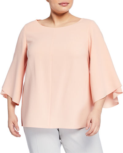 Ruffle Sleeve Pullover Blouse