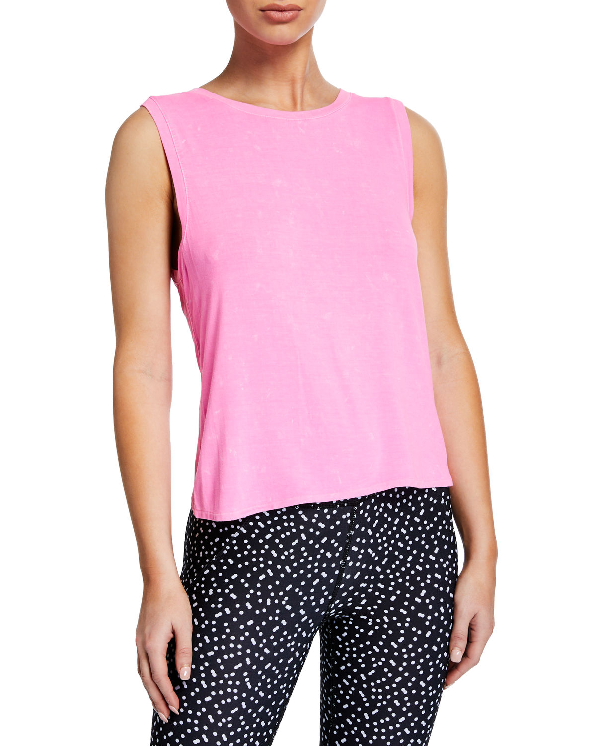 Betsey Johnson BLEACH-EFFECT MUSCLE TANK