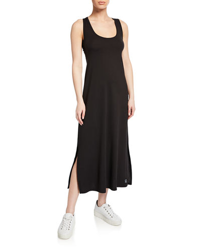 Racerback Maxi Dress w/ Meshing Panel