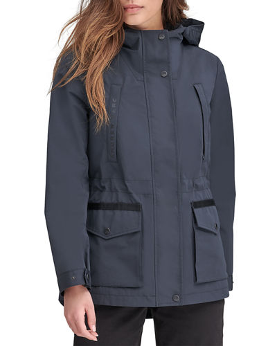Hooded Pocket Anorak Raincoat