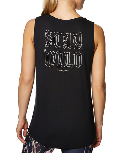 Stay Wild Floral High-low Tank