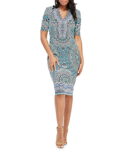Bodycon Pattern Midi Dress