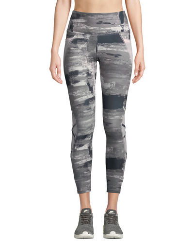 Candace Paint-Swatch Shape-Enhancing Leggings
