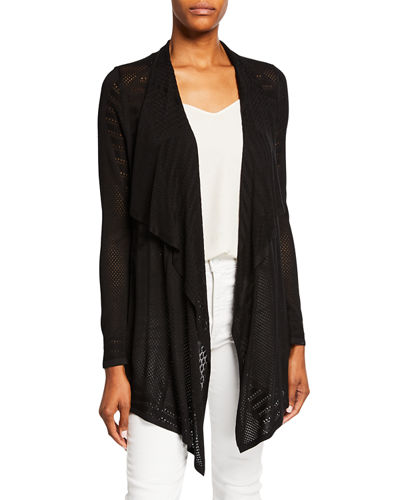 Open-Front Cutout Cardigan