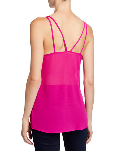 Semisheer Camisole w/ Tassel and Embellished Detail