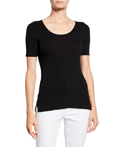 Short-Sleeve Ribbed Top