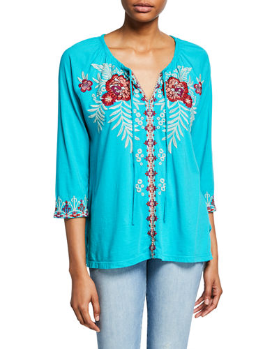 1a0f51953 Maya Floral Embroidered Peasant Blouse. Add to favorites