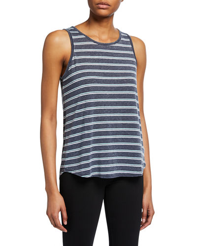Striped Cutout-Back Tank