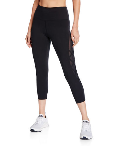 Alli Side Cutout Lace Capri Leggings