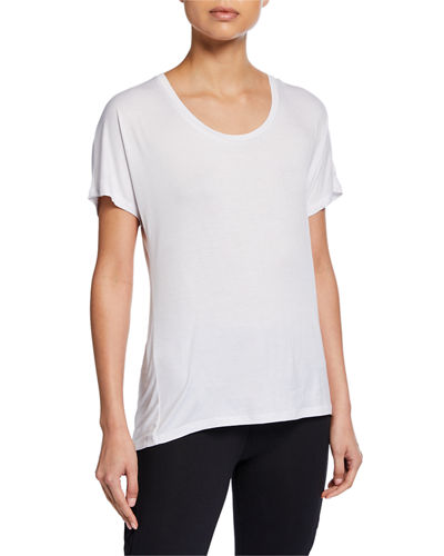 Blaze Cutout-Back Shirttail Tee