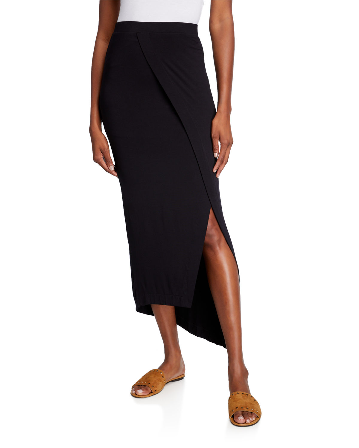 Majestic ASYMMETRIC DRAPE SKIRT