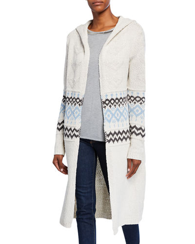 Ranch Hooded Knit Coat