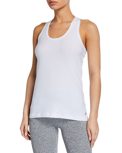 Fitted Scoop-Neck Racerback Tank Top