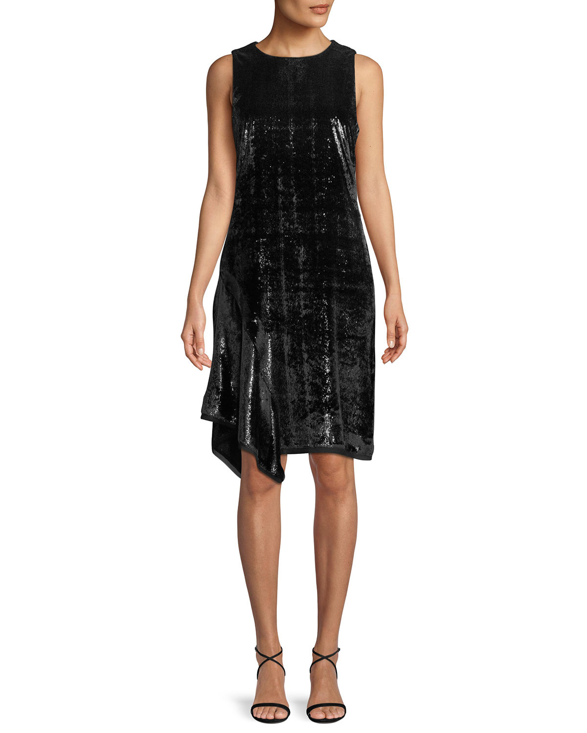Elie Tahari Dresses SERENITY METALLIC SLEEVELESS DRESS