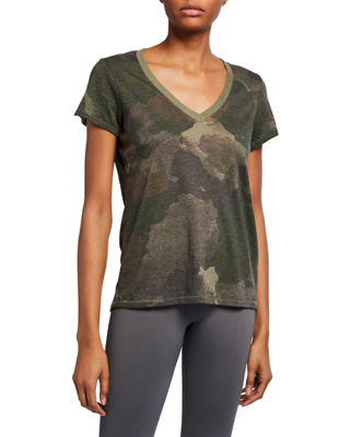 ALTERNATIVE APPAREL | Eco Camo V-Neck Short-Sleeve Tee | Goxip