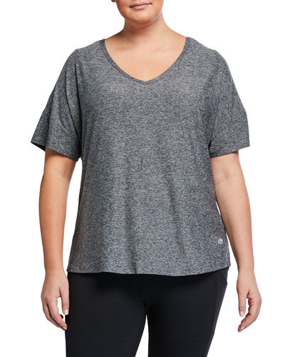 Plus Size Audrey Slit-Back Tee