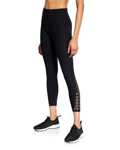 Abbey Laser-Cut Ankle Leggings
