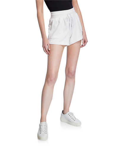 Distressed French Terry Shorts