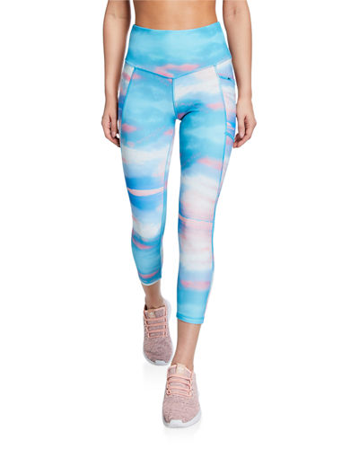 Rachel Printed Capri Leggings
