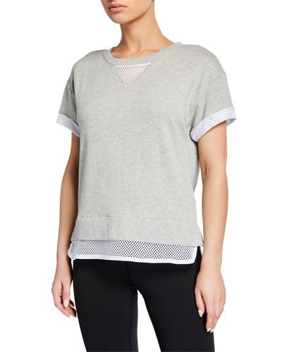 Twofer French Terry Mesh Tee