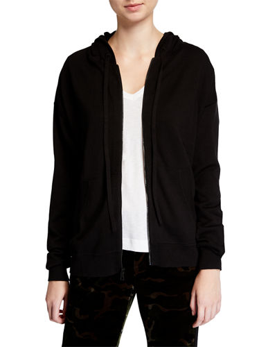 Sixtine Bis Studded Skull Hooded Cardigan