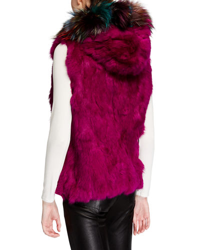 Rabbit/Fox Fur Reversible Vest
