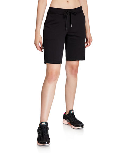 French Terry Raw Edge Bermuda Shorts