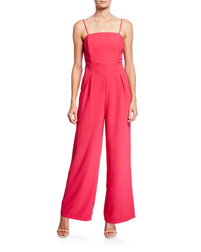 Adjustable-Strap Wide-Leg Jumpsuit