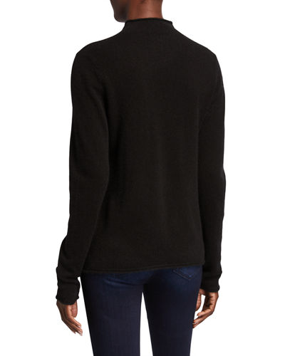 Cashmere Mock-Neck Sweater